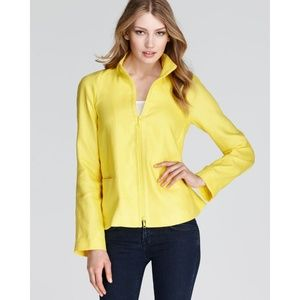 Lafayette 148 NY Jacket Lemon Yellow Sz 12